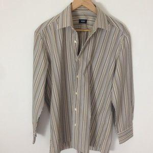 Hugo Boss Striped Multi-Color Dress Shirt 16 1/2